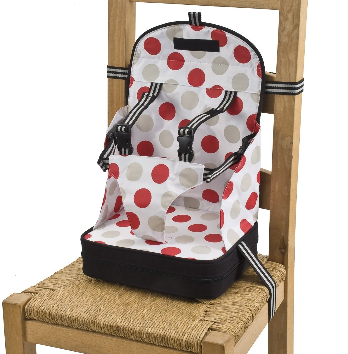 Baby Polar Gear Booster Seat 5 Point Black & Large Spot Print: Polar