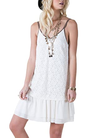 df8abcba81 White Crow WD162204 Shannon Whisper White Lace Dress (Large) at ...