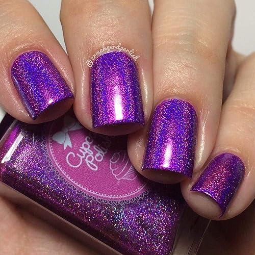 Amazon.com: Berry Good Looking - neon purple holographic nail polish ...