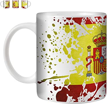 Stuff4 Taza de Café/Té 350ml/España/Español/Bandera Splat País ...