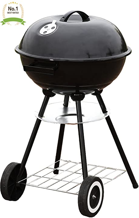 #1 Portable 18u0026quot; Charcoal Grill Outdoor Original BBQ Grill Backyard  Cooking Stainless Steel 18