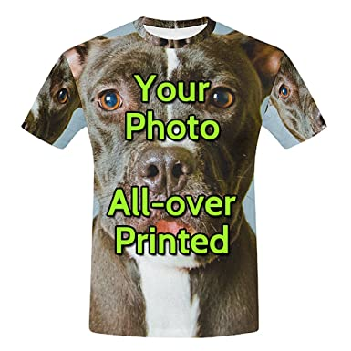 931bee9f Personalized Custom T Shirts for Men add Your Own Picture All Over Printing