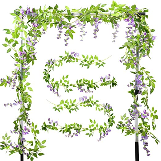 XHXSTORE 2pcs Guirnalda de Flores Artificiales Wisteria Colgantes ...