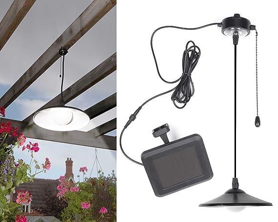 Solar lámpara de techo colgante para Cobertizos garajes pérgolas Control Remoto brillante iluminación LED