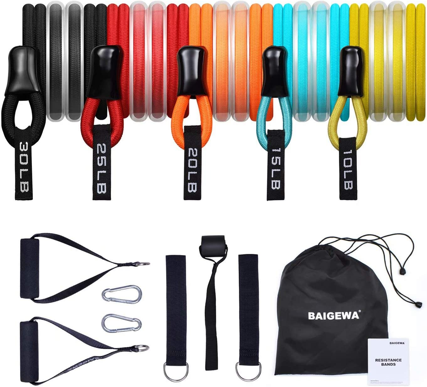 13Pcs Safe and Unbreakable Resistance Bands Set Latext Exercise Equipment Home Rehabilitation Training Bands Exercise Bands Gift Resistance Bands for Seniors