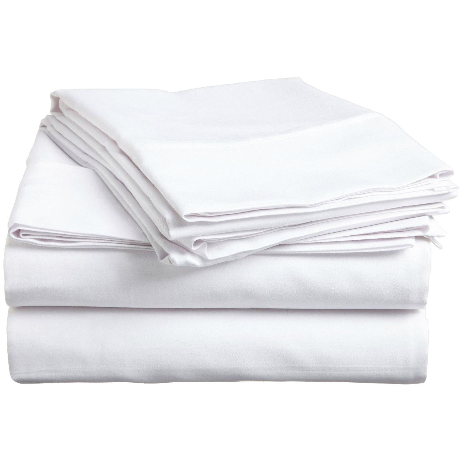 PH 3 Piece Twin Xl White Bed Sheet Set, Ultra cozy, super soft, lightweight, durable, satiny smooth, Fully Elasticized, Sateen weave with 300 thread count, Ivory, Cotton