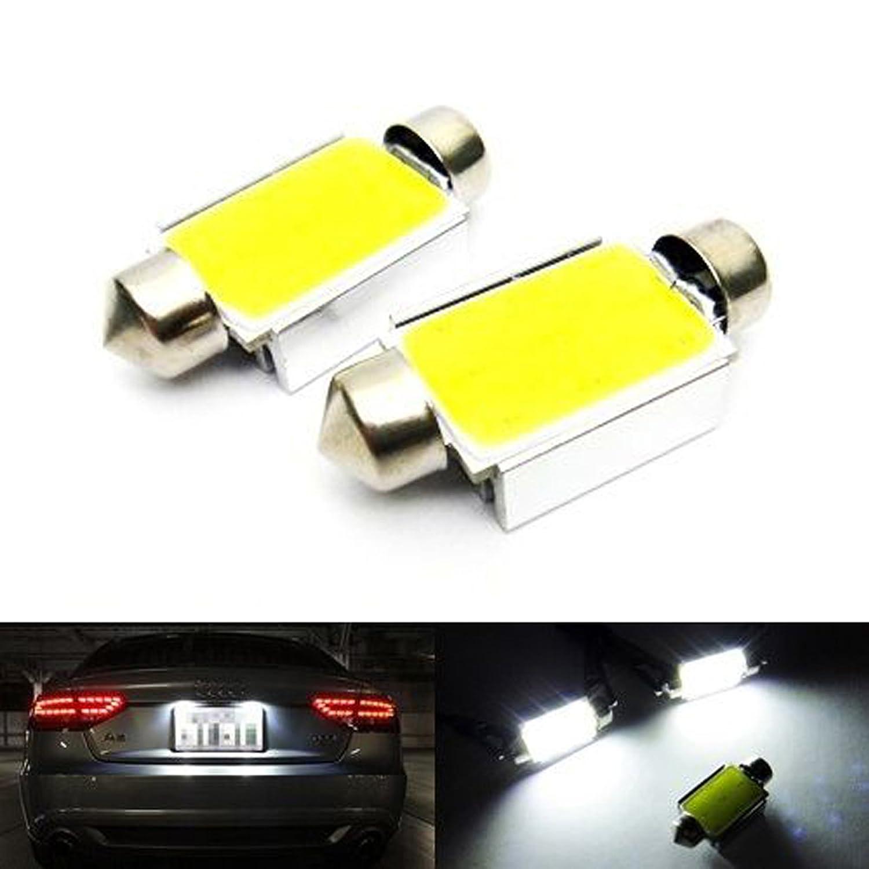 2x White Error Free SMD LED Number Plate Light C5W 239 272 Festoon Bulb Mercedes