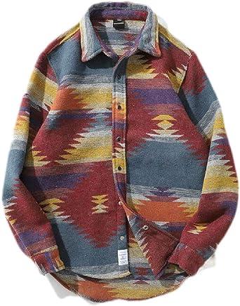 Joe Wenko Mens Long Sleeve Button Front Regular Fit Casual Print Shirts