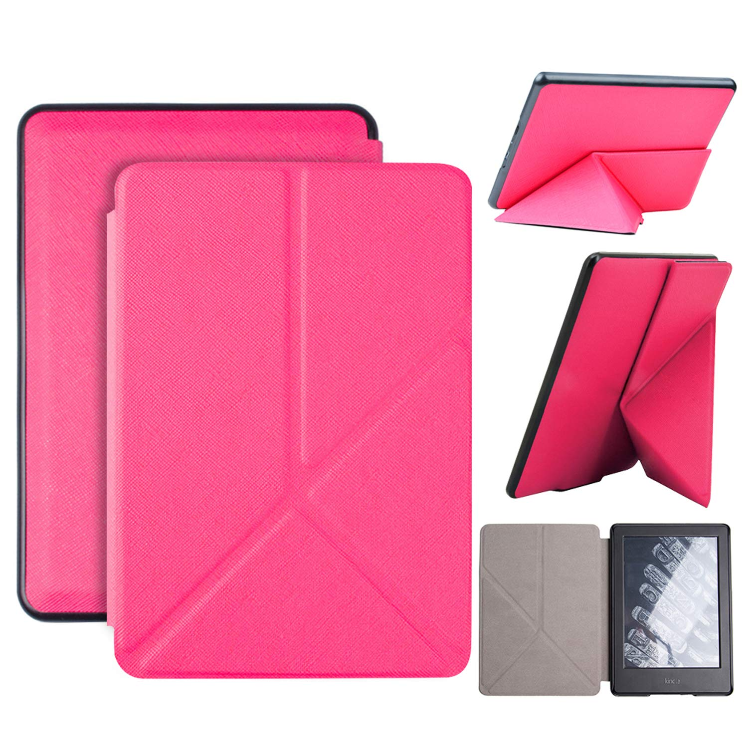 Fintie Origami Case for All-New Kindle Paperwhite - Slim Fit Stand Cover Support Hands Free Reading with Auto Sleep//Wake for  Kindle Paperwhite E-Reader Black 10th Generation, 2018 Release
