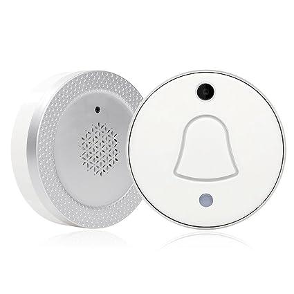 TOOGOO Campana de puerta enchufe de la UE Mini anillo de puerta WiFi inteligente inalambrico con la notificacion ...