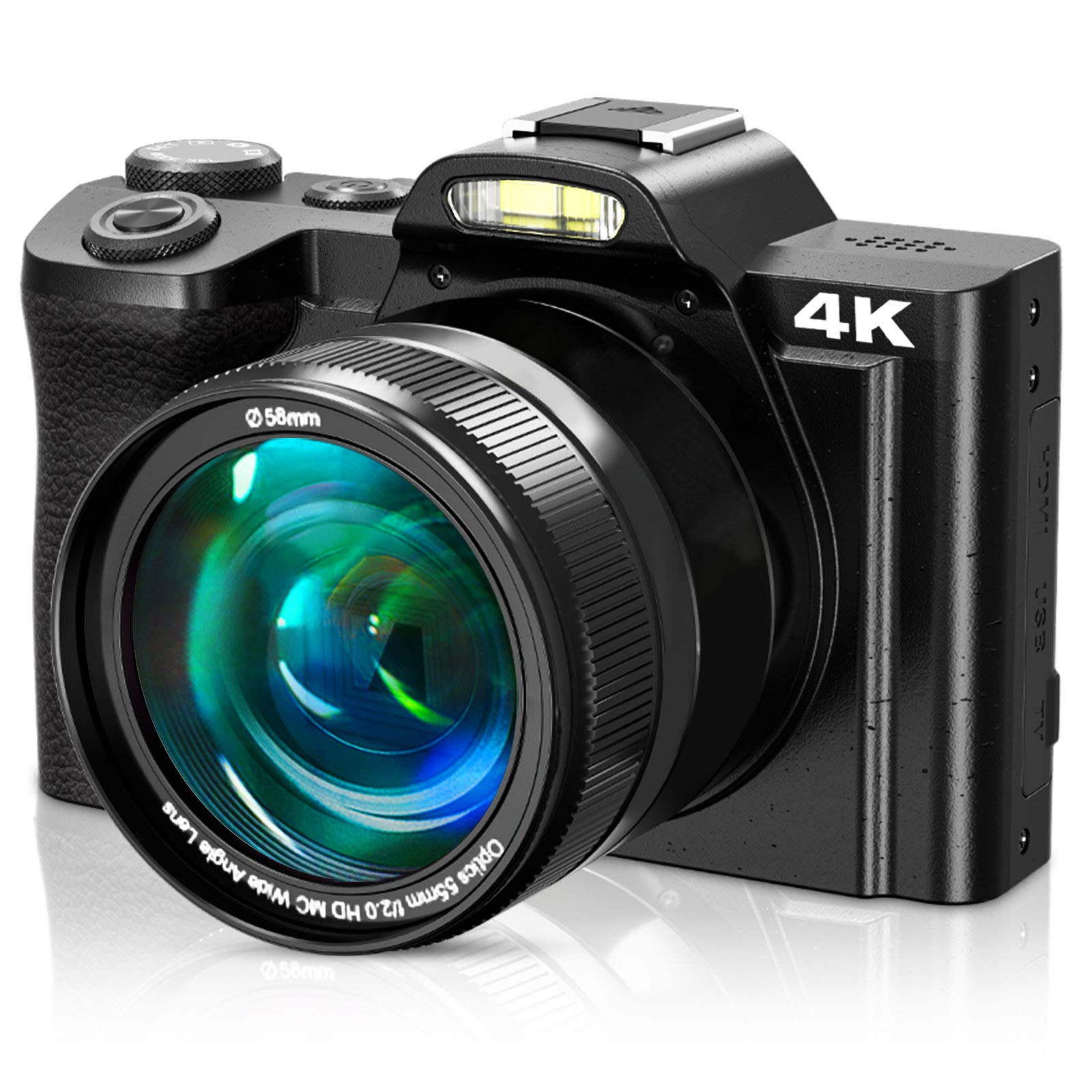 4K Digital Camera, Video Camera Camcorder VideoSky UHD 48MP with WiFi 3.5 in Touch Screen 16 X Digital Zoom Wide Angle Lens YouTube Vlogging Cameras