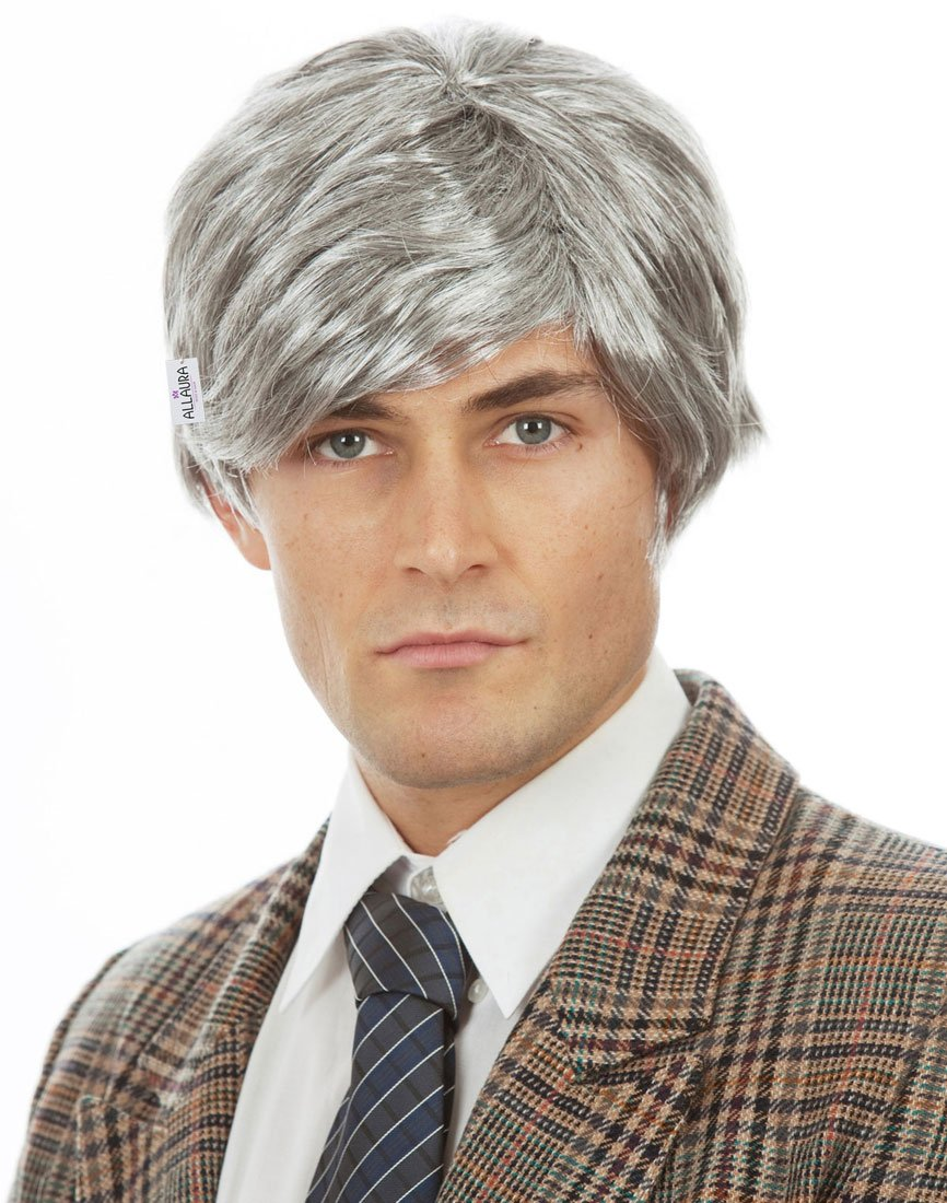 Old Man Wig – Grandpa Wig Kids and Adults – Silver Gray Wig - Old Man Costume by ALLAURA (Image #2)