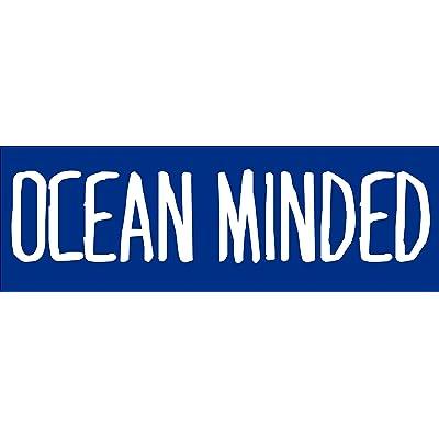 American Vinyl Ocean Minded Bumper Sticker (Beach sea Water Salt surf Hawaii Florida): Automotive