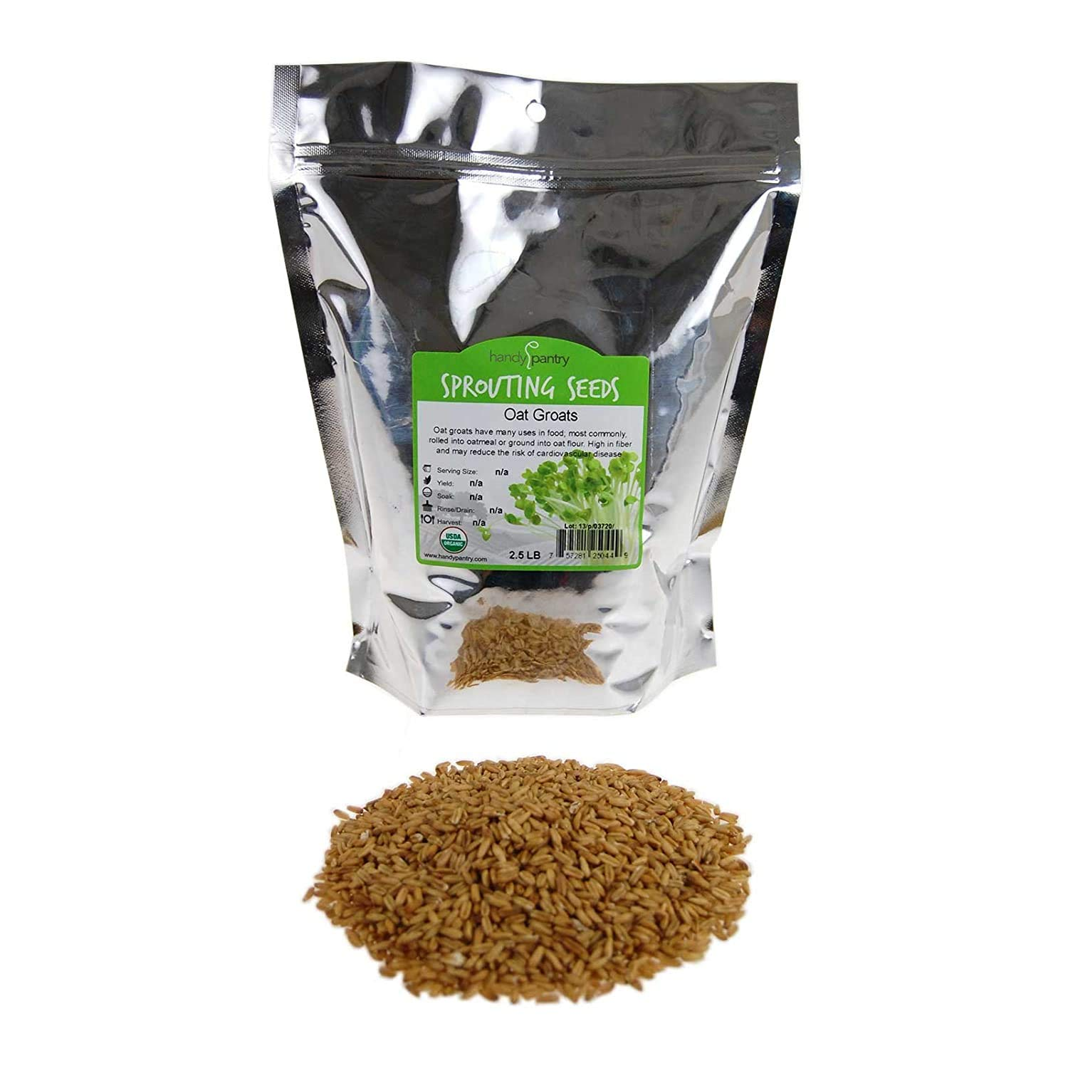 Organic Hulled Oat Groats (Hull Removed): 2 Lbs - Non-GMO Oats - Cereal Grain - Emergency Food Storage, Grains, Rolling for Oatmeal, & More