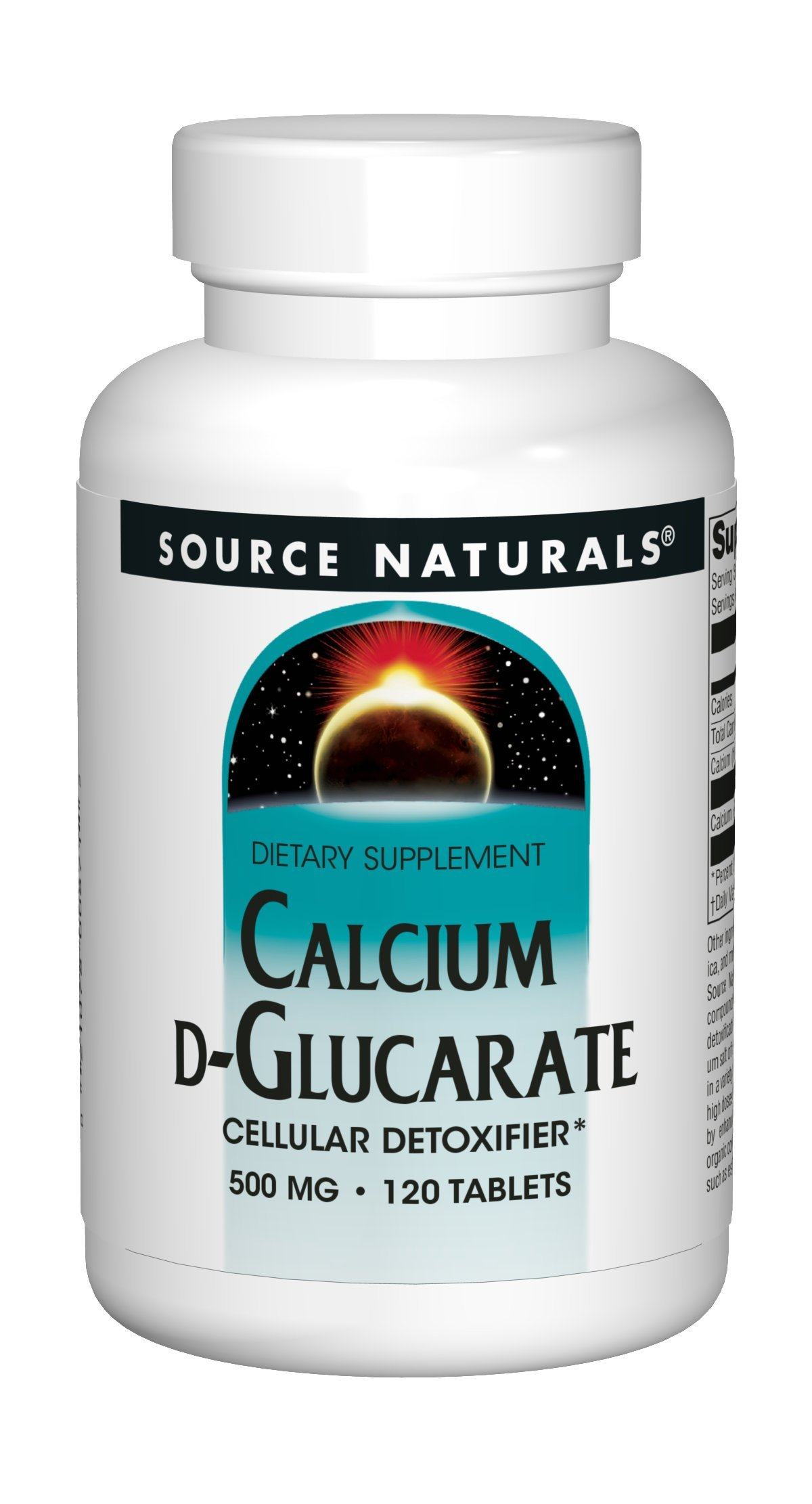 Source Naturals Calcium D-Glucarate 500mg - 120 Tablets