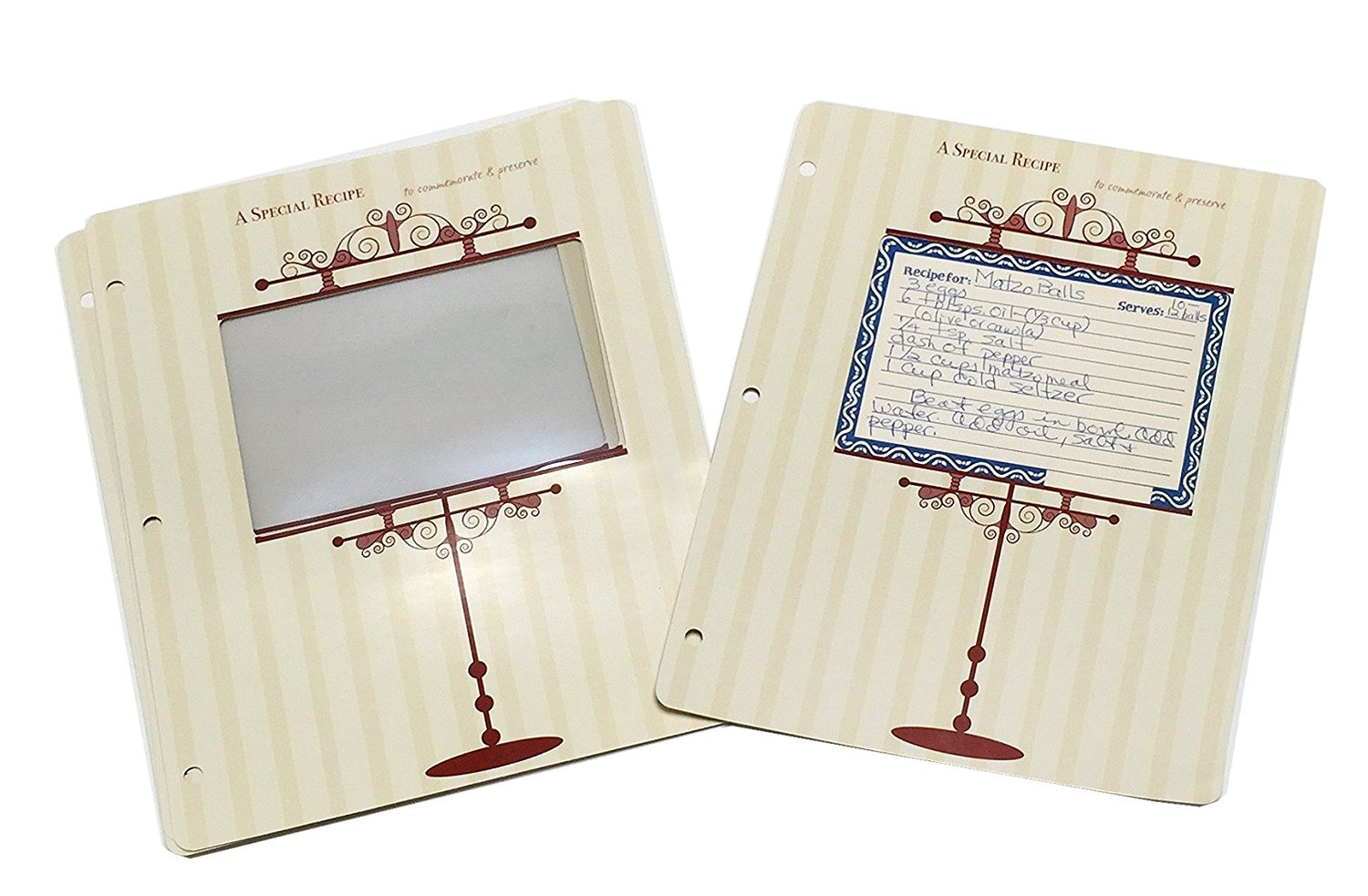 Meadowsweet Kitchens Archival 3 x 5 Recipe Card Pages for 3 Ring Binders RP/ARC35