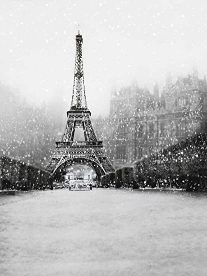 Amazon Com 5x6 5ft Snow Winter Paris Eiffel Tower Background