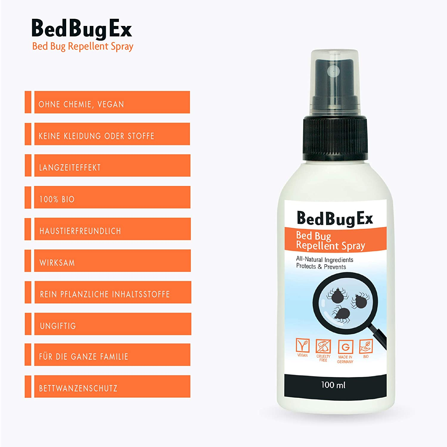 Anti Acarien Spray Bio De Bedbugex I 100ml Lutte Contre Punaises De