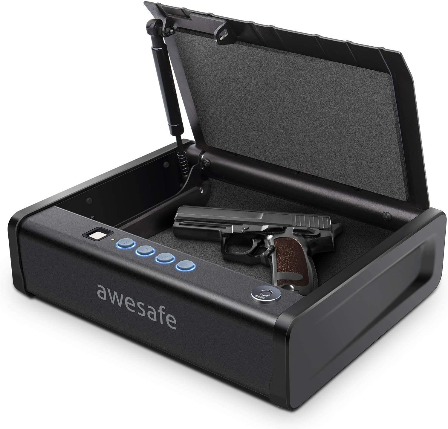 awesafe Gun Safe with Fingerprint Identification and Biometric Lock One Handgun Capacity : Sports & Outdoors