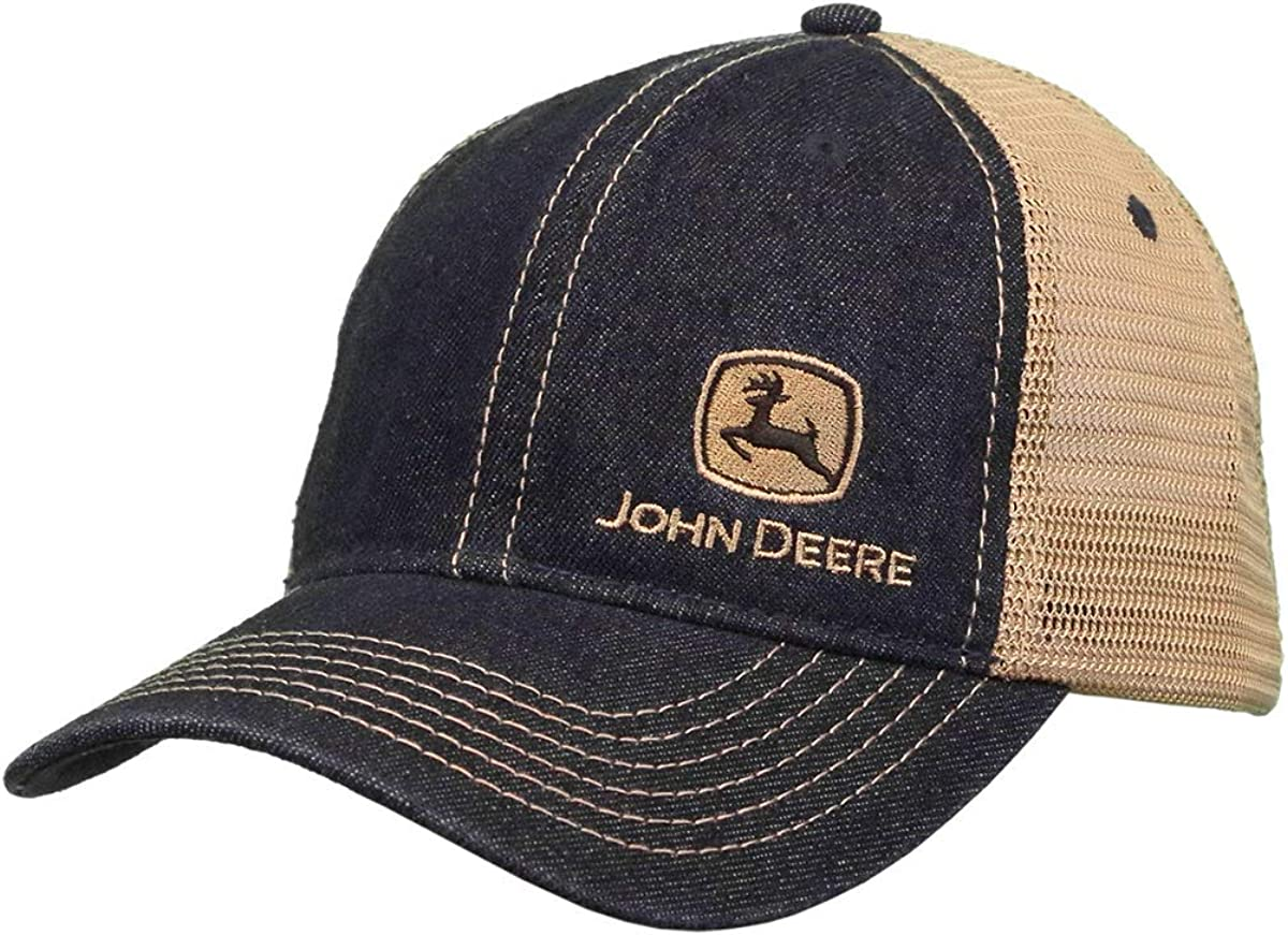 John Deere 6 Panel Cap Denim & Mesh, Unstruct-Khaki-Os: Amazon.es ...