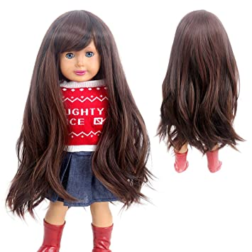 Long Wavy Curly 1//3 Hair Wig for Girl Doll Costume Party Baby Gift~