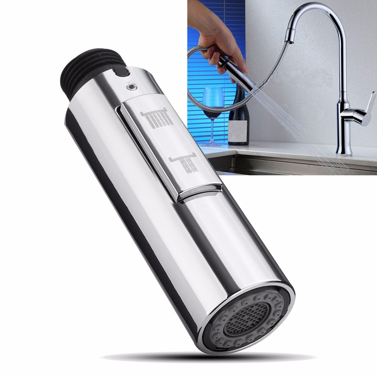 Rip Down Spray - 2 Function Replacement Pull Spray Mixer Tap Bath Sink Faucet Shower Head - Rend Impossible Drag Unconsciou Atomizer Prohibited Draw Commit Unstylish Attract - 1PCs by Unknown
