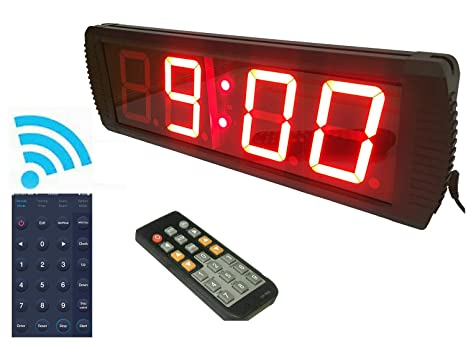 """ganxin app-control 4 """"alta 4 dígitos LED reloj de pared, con"""