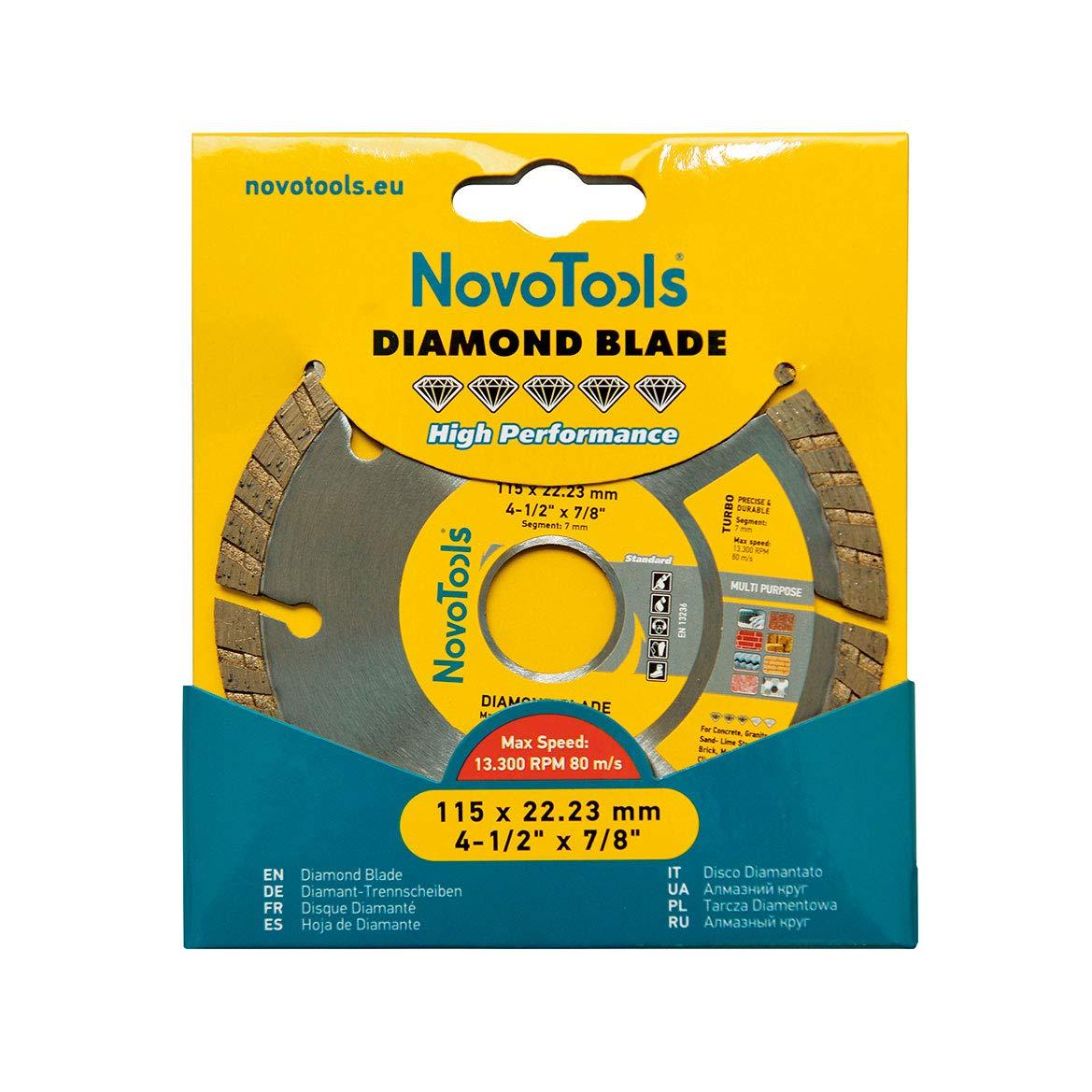NOVOTOOLS DBS115//C◕Lame diamant continue 115 mm