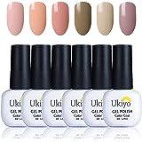 Ukiyo Gel UV led Soak off smalto Nail Art polacco del gel nudo Colore Serie High Gloss 6pezzi