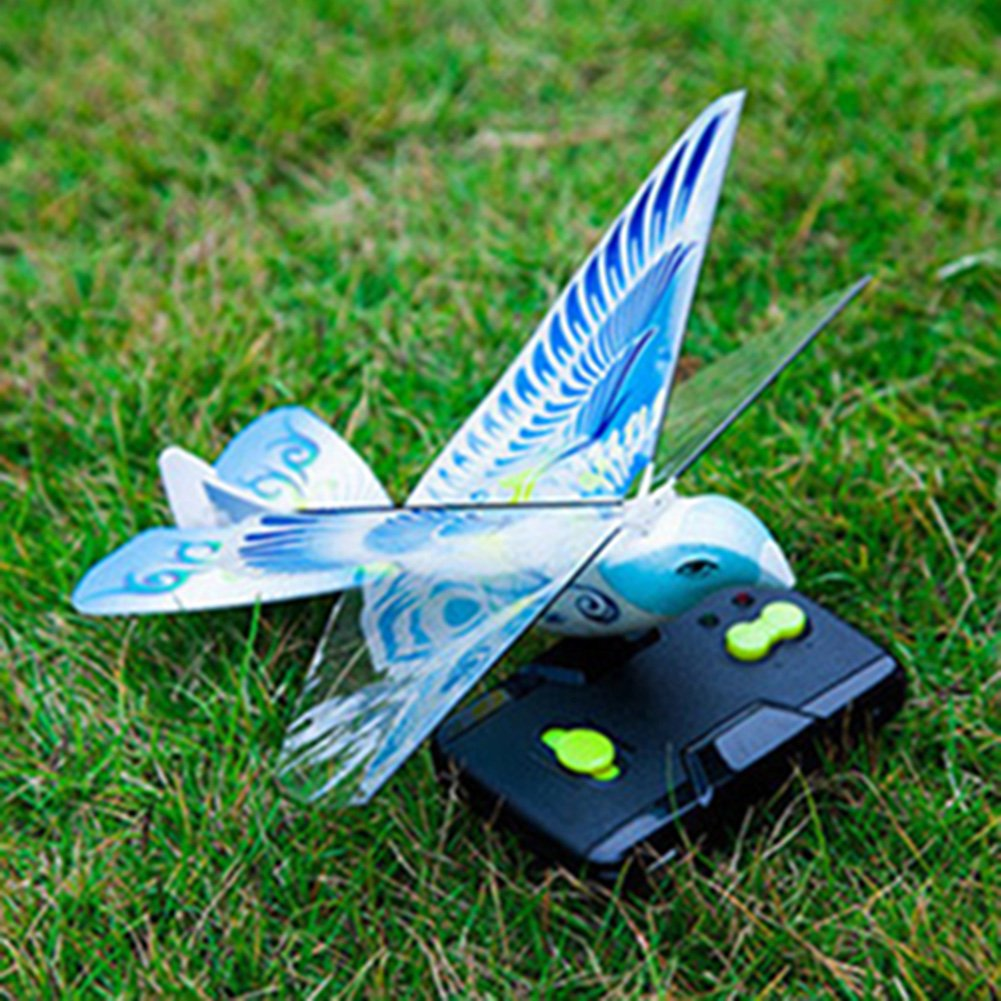Studyset Flying Avitron Bionic Blue Bird Ornithopter RC Remote Control Toy PVC Flying Bird