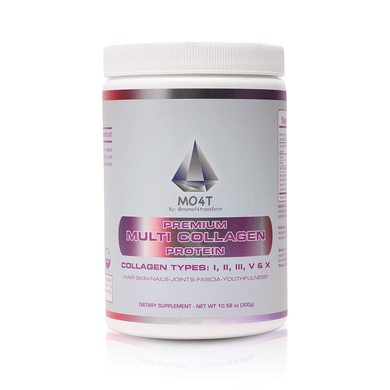Multi Collagen Powder, Premium Hydrolyzed Collagen Peptides, Colágeno Hidrolizado, Multi Colageno Hidrolizado en Polvo, Colageno en Polvo