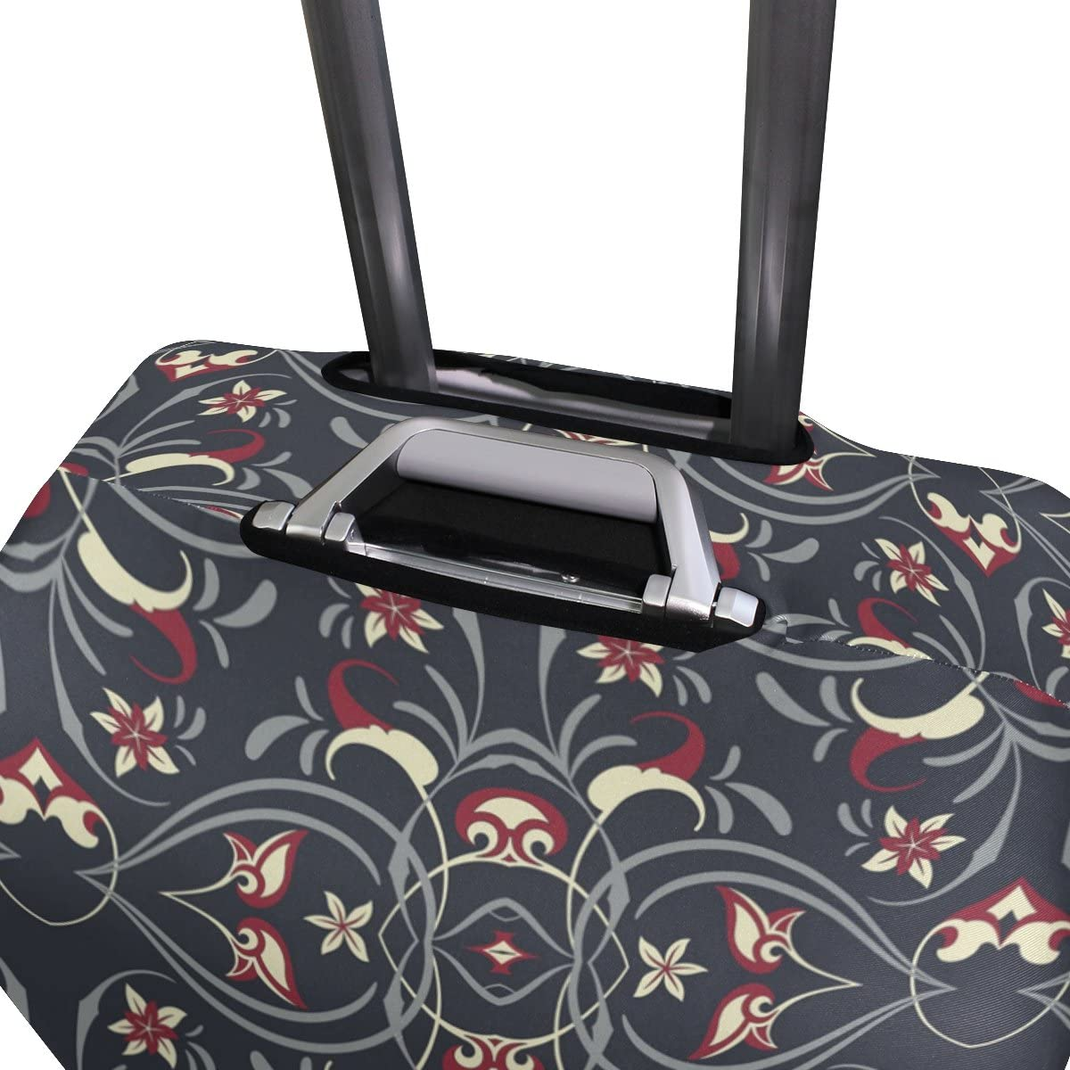 OREZI Luggage Protector Arabic Seamless Pattern Travel Luggage Elastic Cover Suitcase Washable and Durable Anti-Scratch Stretchy Case Cover Fits 18-32 Inches