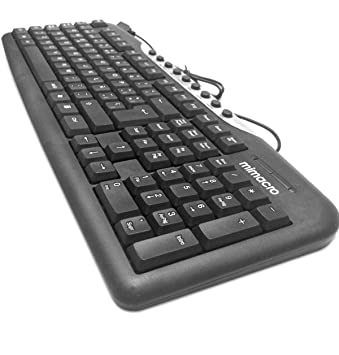 Teclado Cable Español USB Teclado Compacto Uso Oficina Impermeable Diseño Ergonomía Color Negro: Amazon.es: Electrónica