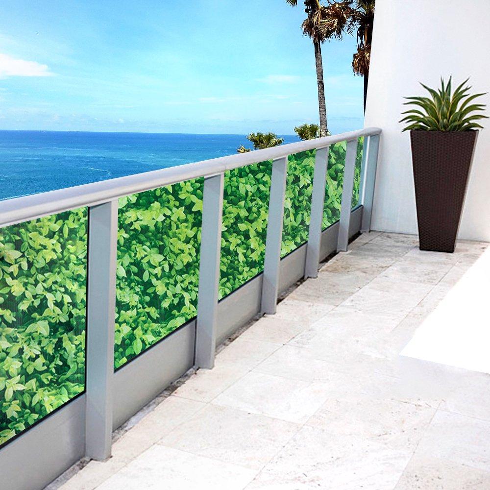 con occhielli frangivento protezione da raggi resistente a los rayos UV 75x600cm Beige Hengda Copertura per balcone idrorepellente Copertura per balcone idrorepellente