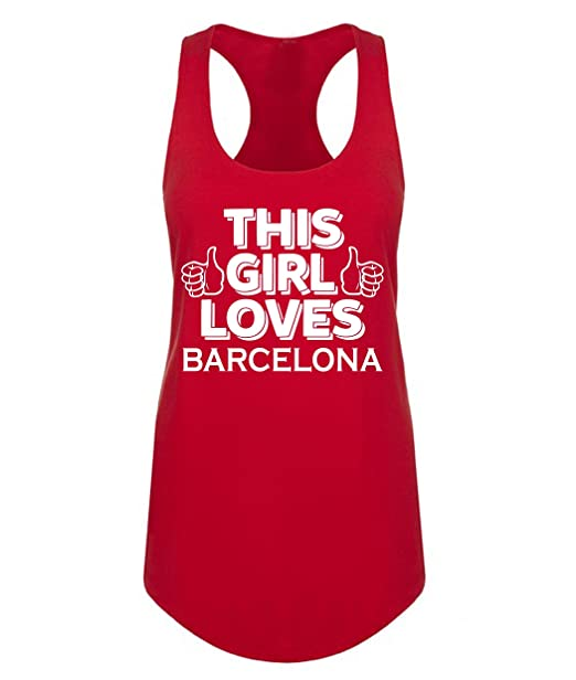 sports shoes ee7a5 6ea88 Amazon.com: This Girl Loves Barcelona Soccer Football Womens ...
