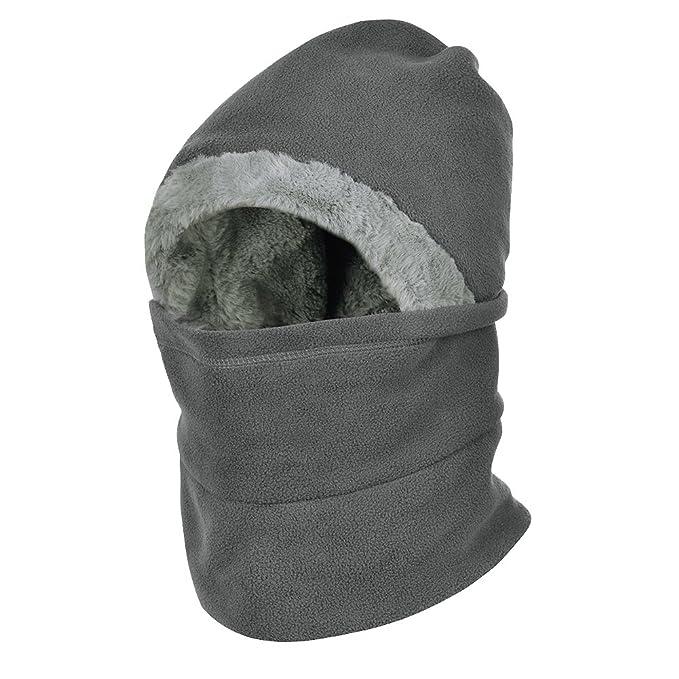 f2ec07b8a7181 Vbiger Cuello Calentador para Invierno y Gorro con Calentito para Invierno  Pasamontañas para Hombre y Mujeres