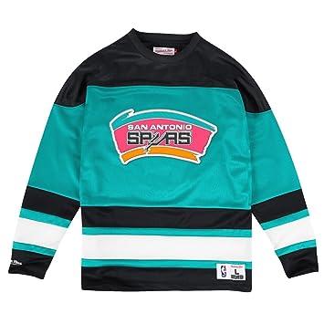 San Antonio Spurs Mitchell & Ness NBA Malla Jersey Camiseta Manga Larga Crew Camiseta Talla: