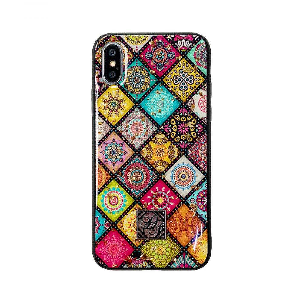 ERQINGT Etui pour Téléphone Portable Rétro Créatif pour Iphonexsmax Mobile Shell Époxy Feuille d'or 8Plus Apple 7 / 6S Soft Shell Personnalité Féminine