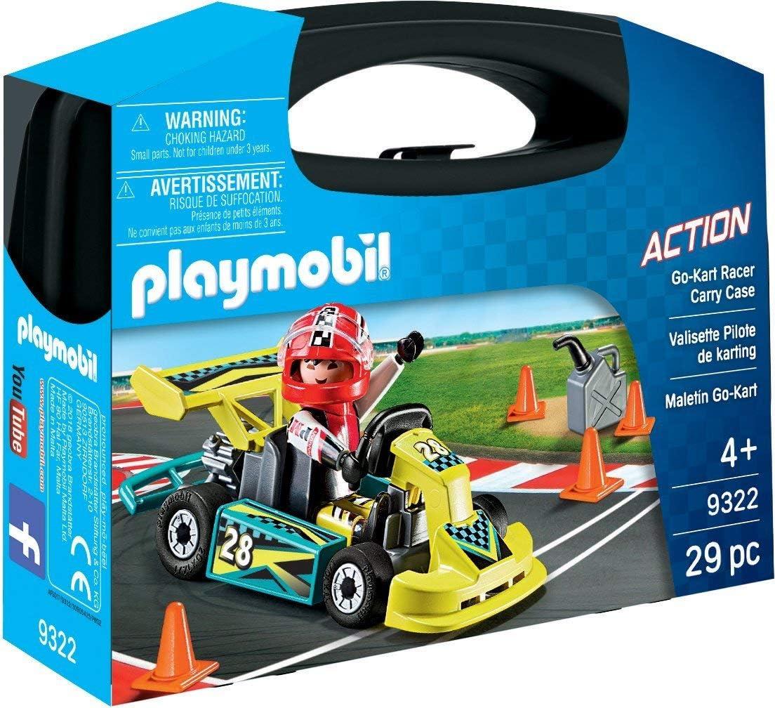 Playmobil - Go-Kart Racer Carry Case Juego con Accesorios, Multicolor (9322)