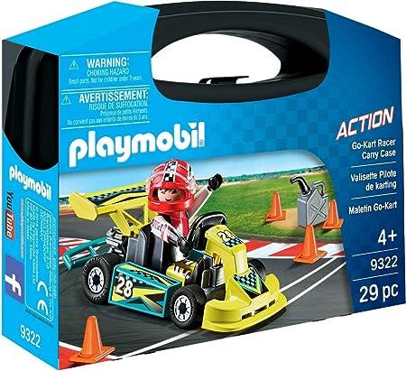 PLAYMOBIL- Maletín Go Kart Juguete, Multicolor (geobra Brandstätter 9322)