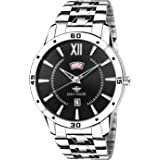 Eddy Hager Black Round Dial Day And Date Men's Watch Eh-212-Bk