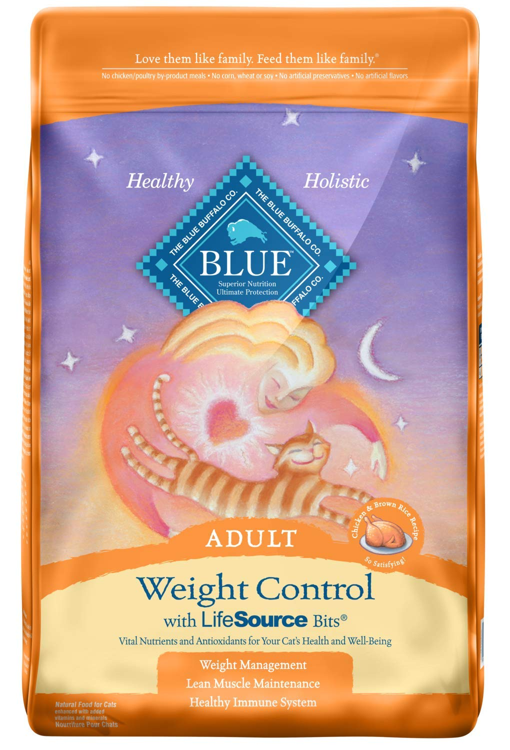 Blue Buffalo Weight Control Natural Adult Dry Cat Food Chicken Brown Rice
