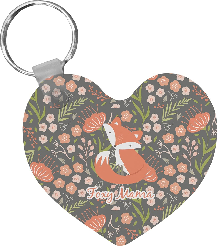 Foxy Mama Heart Keychain