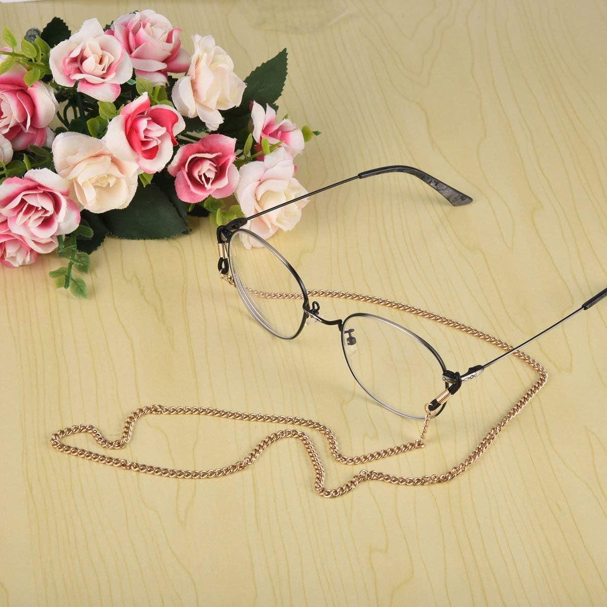 Occhiali delicati alla Moda Occhiali Collana a Catena Corda per Occhiali Supporto per Tracolla Cordino per Collo Regali per Amici MarinoBIRD