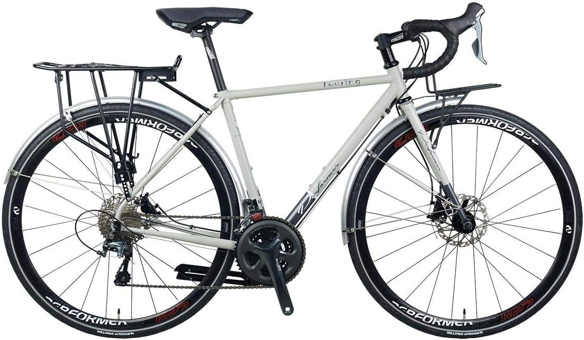 *Pro-Performer プロパフォーマー*〈TOURING〉700C ロード バイク Shimano TIAGRA 20s Road Bike 艶消しグレー