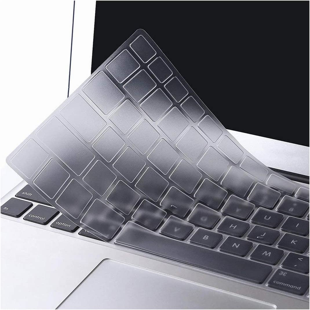 for New MacBook Air 13 Inch Touch Id 2018 A1932 Silicone Keyboard Cover US//American Film English Letters Black//Clear,Baby Pink