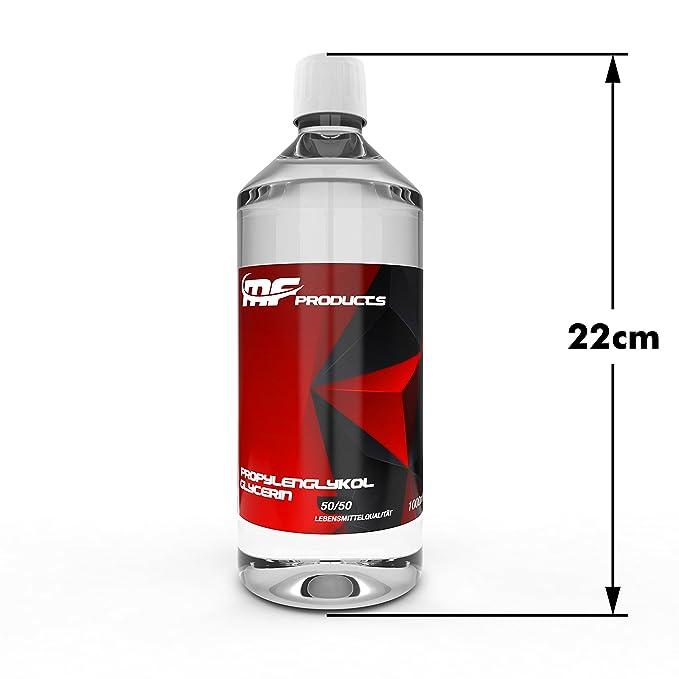 Base Liquido 50/50 Propileno Glicol/Vegetal Glicerina 1000ml de MF ...