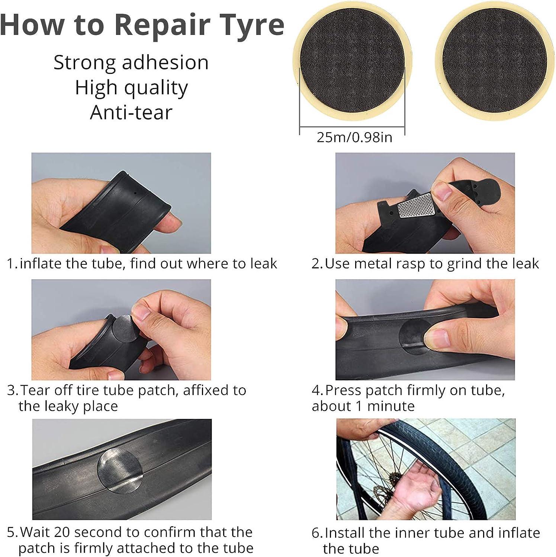 Kamtop 27 Packs Multifunction Bike Repair Tool Kits 210 PSI Pressure Gauge Tire Pump Inflator 16 in 1 Bicycle Tool Patch Tool Tire Puncture Repair Kit