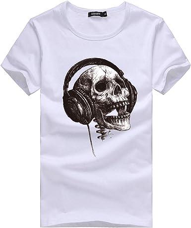 SHOBDW Camiseta de Hombre, Muchacho más la Camiseta Verano de la Impresión de Manga Corta Talla Grande de Camiseta: Amazon.es: Ropa y accesorios