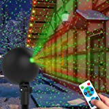 Christmas Lights Projector Laser Light Xmas Spotlight Projectors Waterproof Outdoor Landscape Spotlights for Holiday…